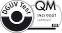 Seal DGUV test QM ISO noir